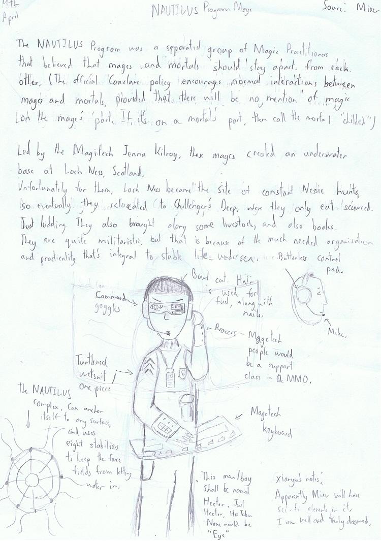 Day Nine- Hector, NAUTILUS Program Mage