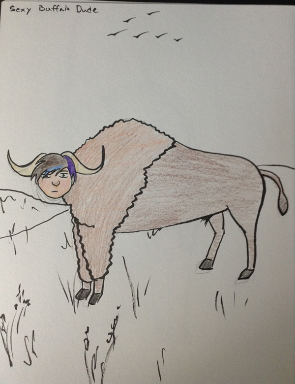Day 24: Sexy Buffalo Dude