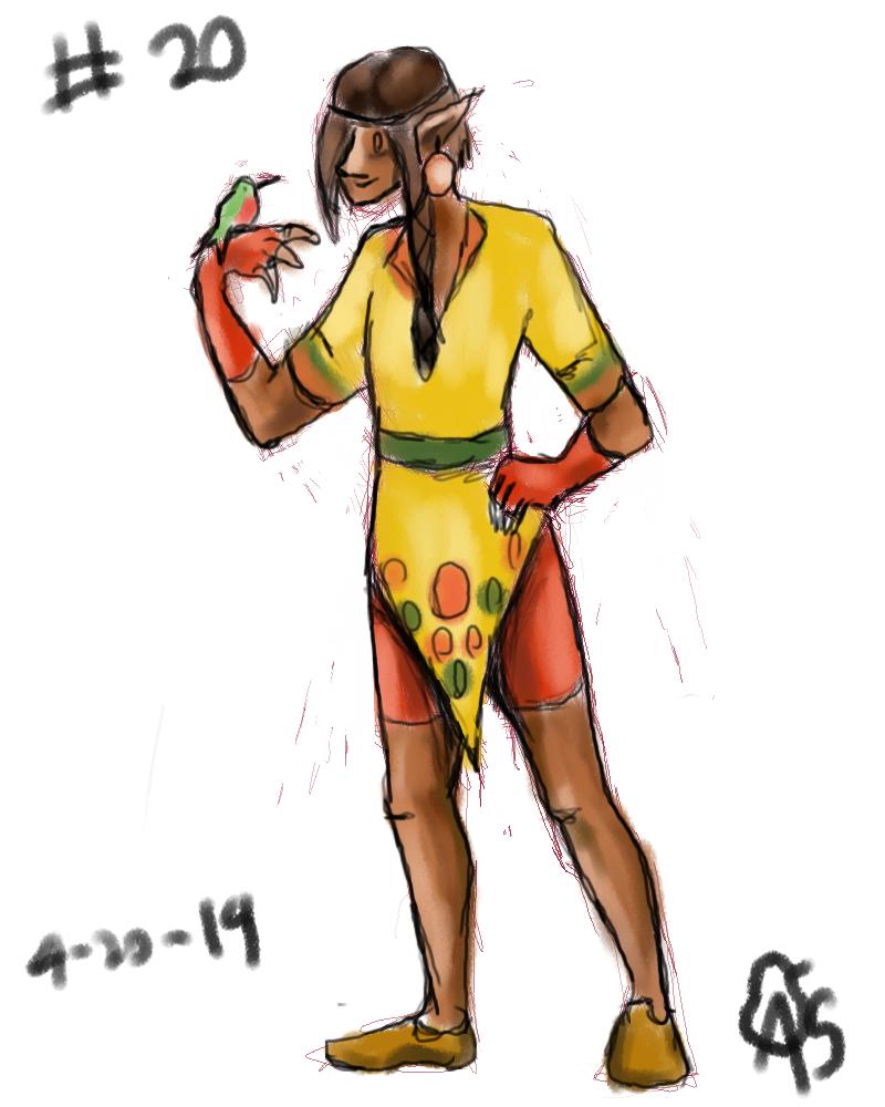 #20 wood elf Ranger