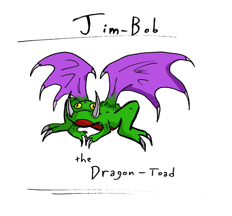 Day 10; Jim-Bob, the Dragon-Toad